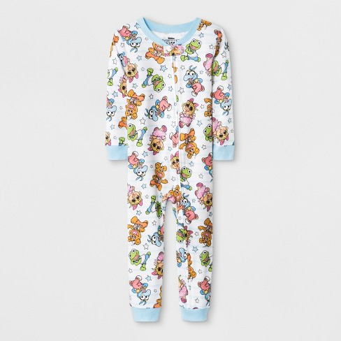 d0379a3c20 Toddler Girls  Muppet Babies Blanket Sleeper - White 3T   Target