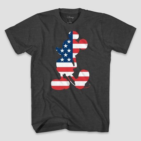da4f1a8df Men's Disney Americana Mickey Short Sleeve Graphic T-Shirt Heather Gray