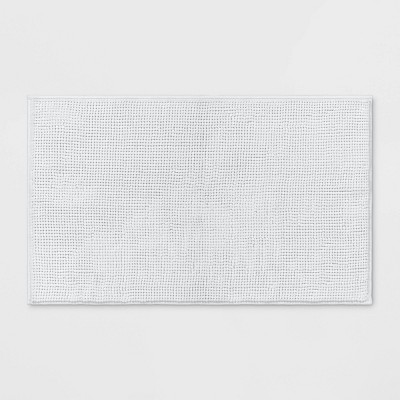 "20""x34"" Solid Bath Rug White - Made By Design™"