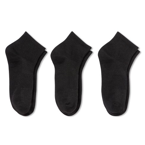 Fruit of the Loom® Women's Athletic Socks - 3pk - Black 4-10 - image 1 of 2