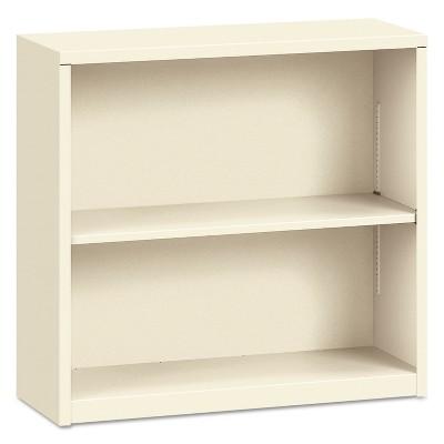 HON Metal Bookcase Two-Shelf 34-1/2w x 12-5/8d x 29h Putty S30ABCL