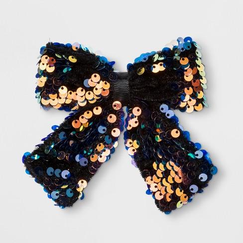 Girls' Sequin Velvet Tail Bow Clip - Cat & Jack™ - image 1 of 3