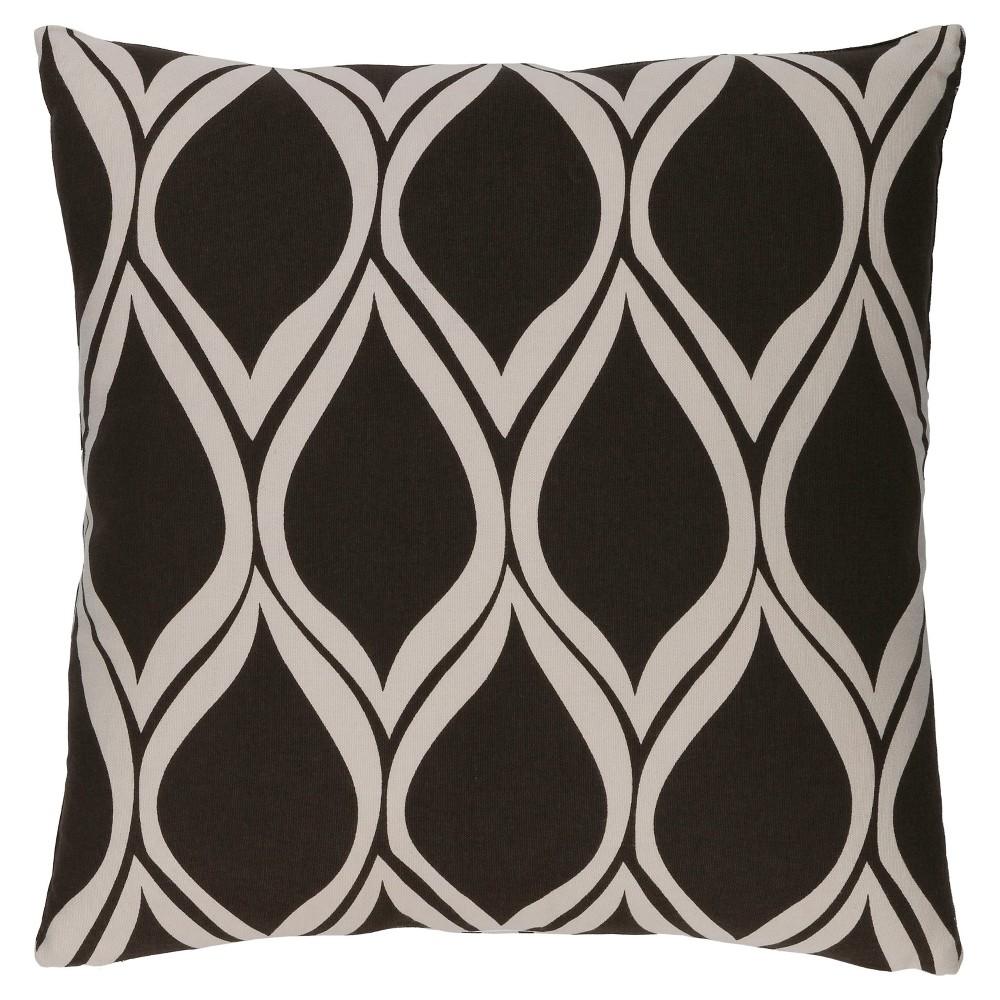 Black Veford Geometric Throw Pillow 20
