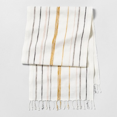 Stripe Oversized Runner - Sour Cream Multi Stripe - Hearth & Hand™ with Magnolia