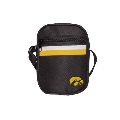 NCAA Iowa Hawkeyes Black Mini Messenger Bag
