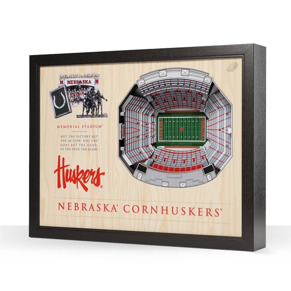 Ncaa Nebraska Cornhuskers Stadium View Wall Art Memorial Stadium