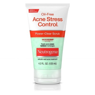 Facial Cleanser: Neutrogena Acne Stress Control Power-Clear Scrub