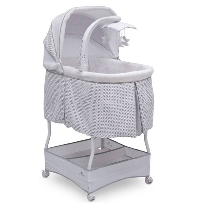 Serta iComfort Hands-Free Auto-Glide Bedside Bassinet Portable Crib Features Silent Smooth Gliding Motion That Soothes Baby - Cameron