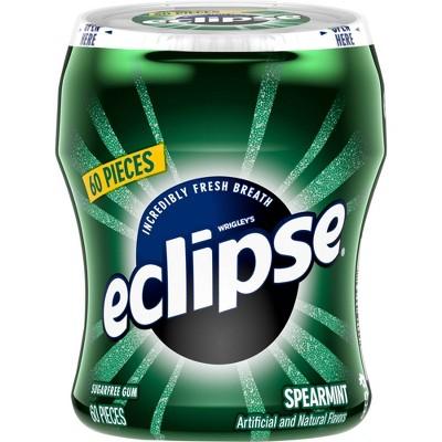 Eclipse Spearmint Sugar Free Chewing Gum Bottle - 60pc/2.9oz