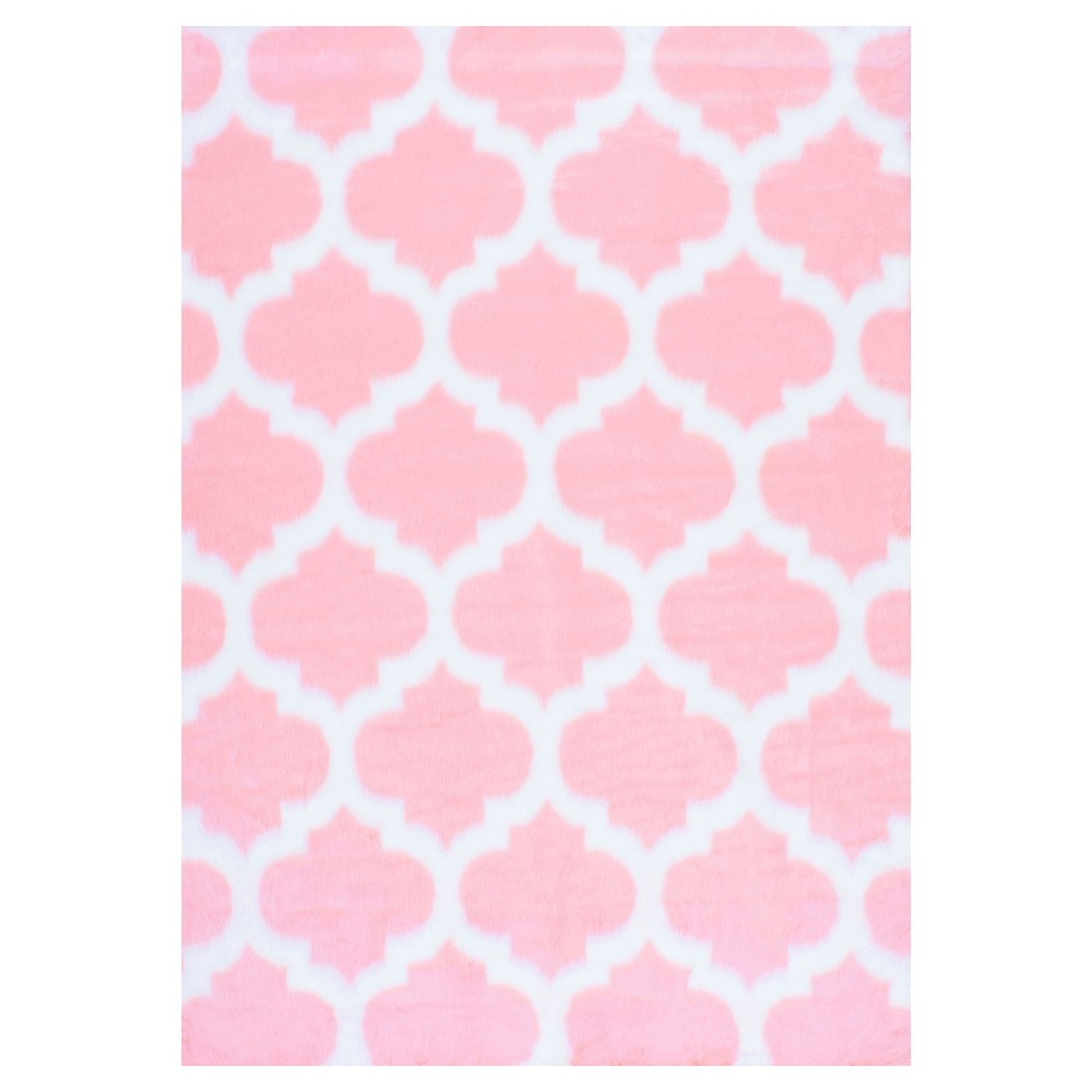 Pink Abstract Loomed Area Rug - (4'x6') - nuLOOM