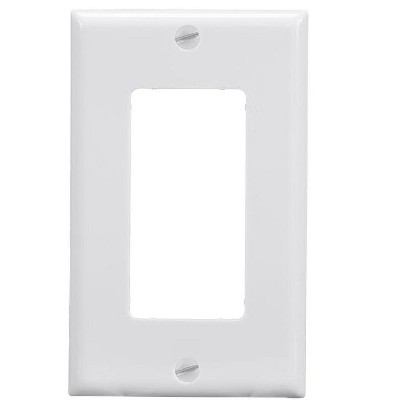Monoprice 1-Gang Dcor Wall Plate - White  for Home ,Office, Personal Install