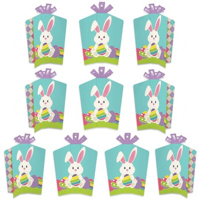Big Dot of Happiness Hippity Hoppity - Table Decorations - Easter Bunny Party Fold and Flare Centerpieces - 10 Count