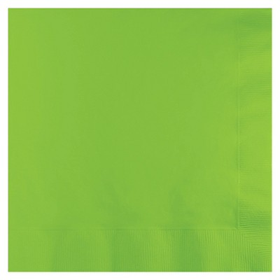 50ct Fresh Lime Green Disposable Napkins