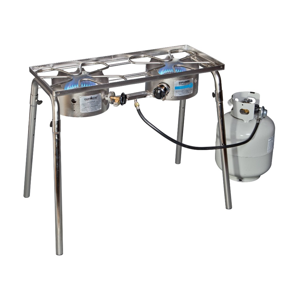Image of Camp Chef Explorer Two Burner Stove - Black