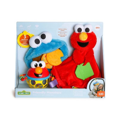 Bright Starts Sesame Street Friendly Cookie Monster and Elmo Gift Set - 3pc