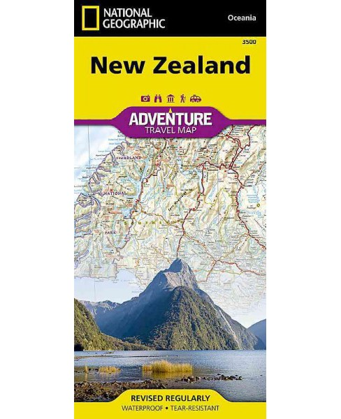 National Geographic Adventure Map New Zealand -  by National Geographic Maps (Paperback) - image 1 of 1