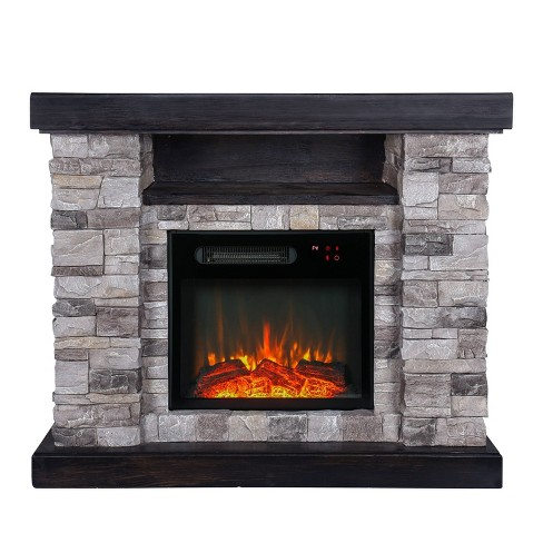 39 Freestanding Electric Fireplace Gray Home Essentials Target
