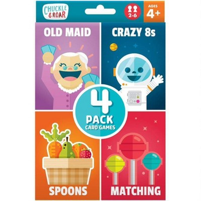Chuckle & Roar Old Maid, Spoons, Matching and Crazy 8s Classic Card Games