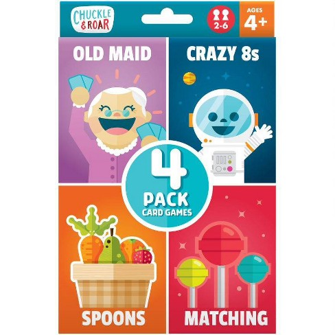 Chuckle Roar 4pk Of Classic Card Games Old Maid Spoons
