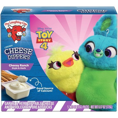 The Laughing Cow Creamy White Cheddar Flavored Cheese Dippers - 5pk