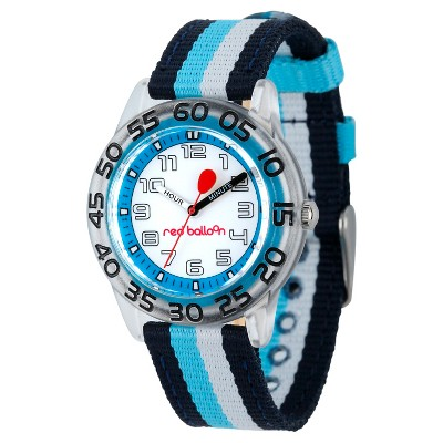 Boys' Red Balloon Plastic Time Teacher Watch - Colorful