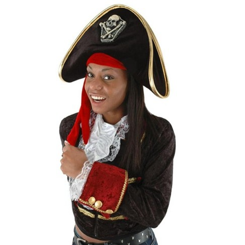 Elope Pirate Adult Costume Hat Black - image 1 of 1