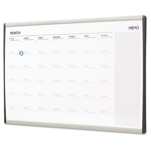 Quartet Magnetic Dry Erase Calendar 18 X 30 White Silver Target