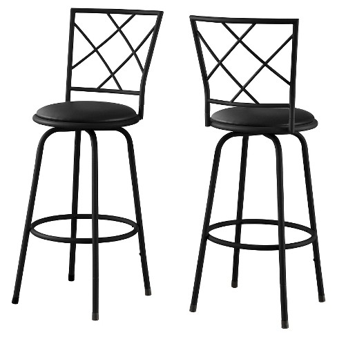 Terrific 28 Armless Metal Barstool Black Set Of 2 Everyroom Theyellowbook Wood Chair Design Ideas Theyellowbookinfo