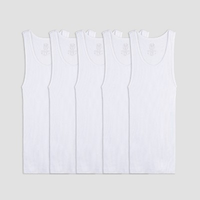 Fruit of the Loom Boys' 5pk A-Undershirt - White