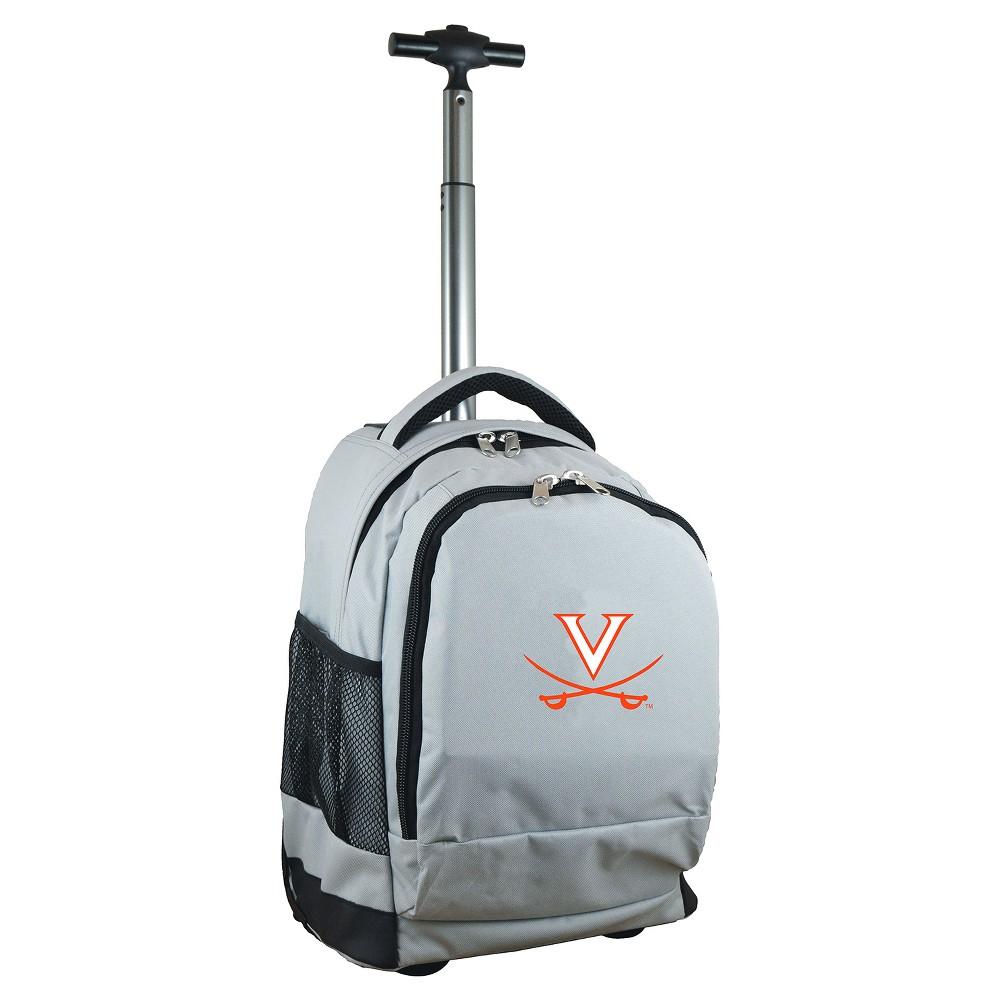NCAA Virginia Cavaliers Gray Premium Wheeled Backpack