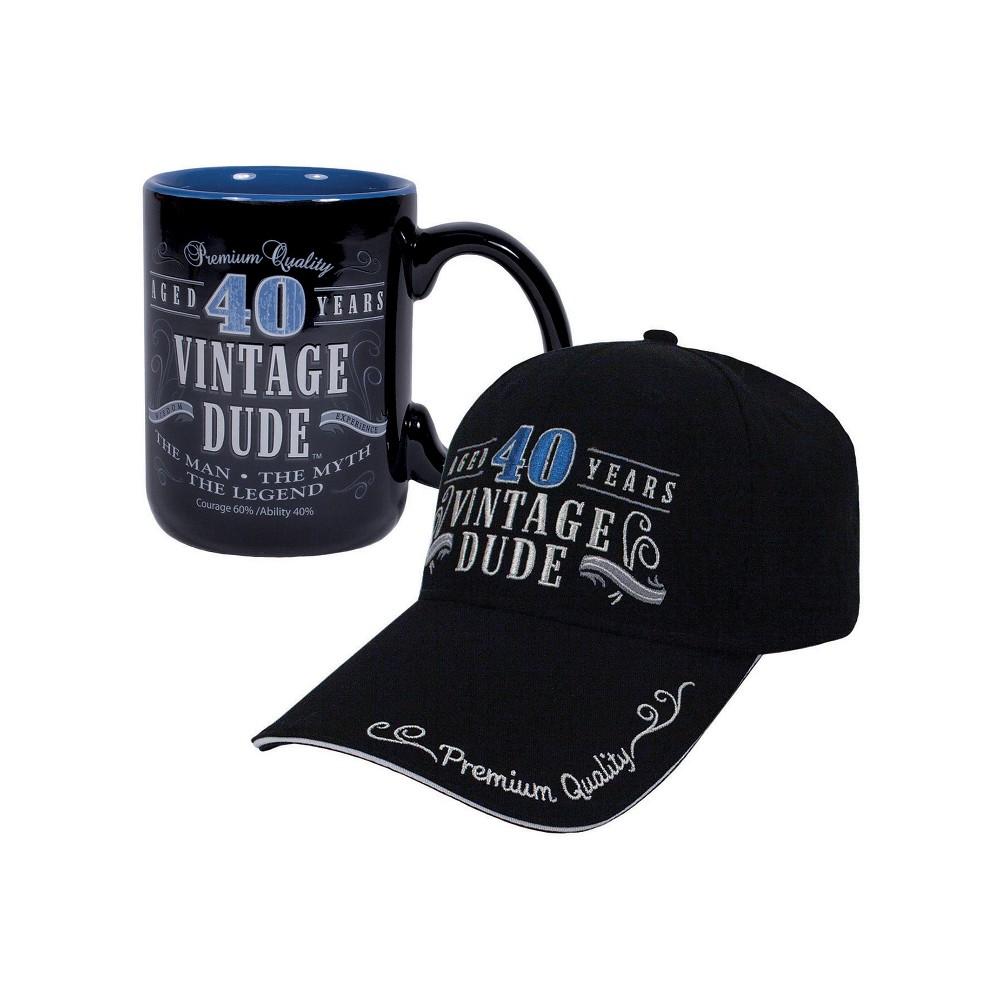 Vintage Dude 40 Hat And Coffee Mug Bundle