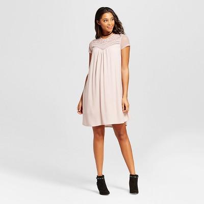 4c96c40dea1a1 Womens Lace-Top Shift Dress – Xhilaration™ (Juniors) Pink XL ...