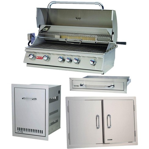 Bull Outdoor Products 5 Burner Brahma Propane Outdoor Grill w/ Accessory Package - image 1 of 4