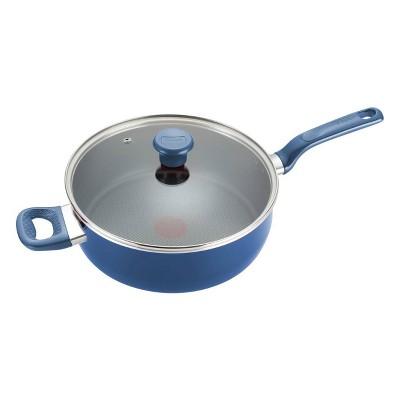 T-fal Excite Nonstick Cookware, Jumbo Cooker, 5qt, Blue