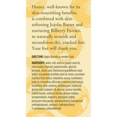 Burt's Bees Foot Cream - Honey and Bilberry - 4 oz