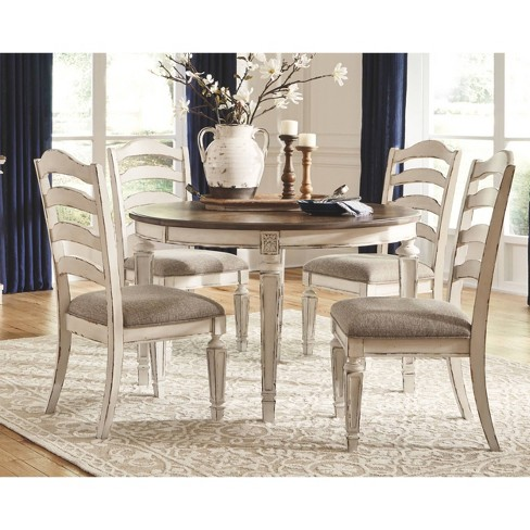 Realyn Oval Dining Room Extension Table Chipped White Signature Design By Ashley Target