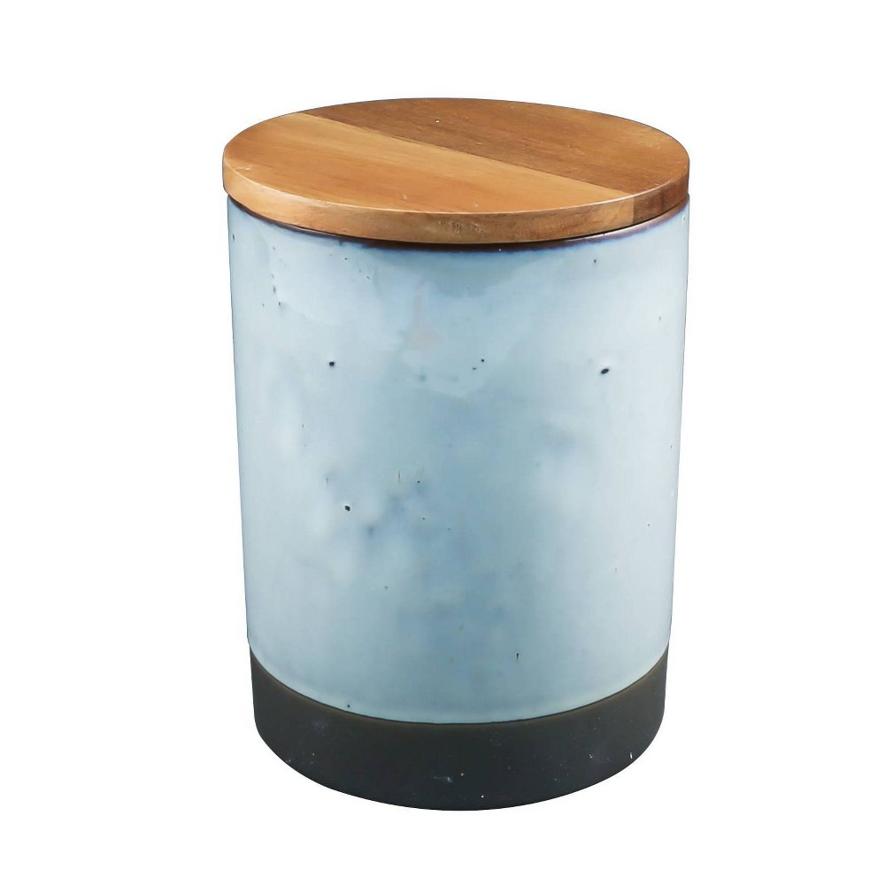 Image of 16oz Ceramic Canister with Acacia Wood Lid Brown - Thirstystone