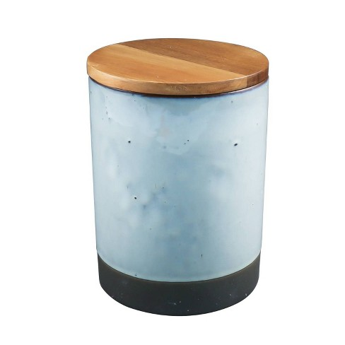 16oz Ceramic Canister with Acacia Wood Lid Brown - Thirstystone - image 1 of 1