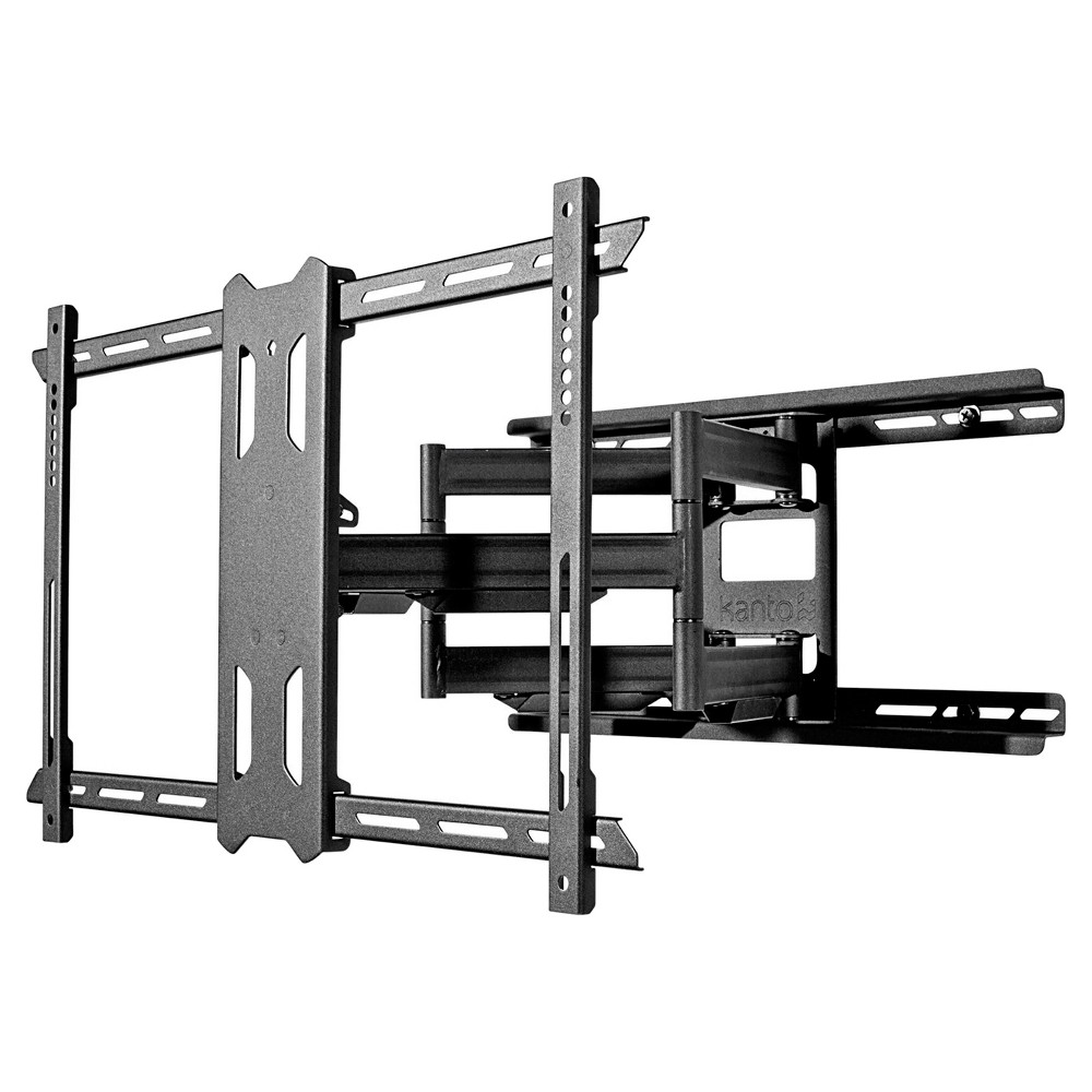 "Kanto Full-Motion TV Wall Mount For 37 -75  - Black(PDX650) The PDX650 from Kanto is a full motion TV wall mount that allows your flat screen TV to sit 2″ from the wall. Its generous tilt and swivel capabilities are complemented by 21.8"" of extension, making it easy to place your TV in the most optimal position. Magnetic wall plate covers are also included to hide any sign of installation. Exceptionally strong yet lightweight enough to make installation a breeze, this TV wall mount will ensure your TV remains safe and secure. Color: Black."