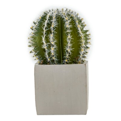 5  x 3.7  Artificial Cactus Arrangement In Cement Pot Green/Gray - Lloyd & Hannah