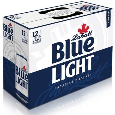 Labatt Blue Light Canadian Pilsener Beer - 12pk/12 fl oz Cans