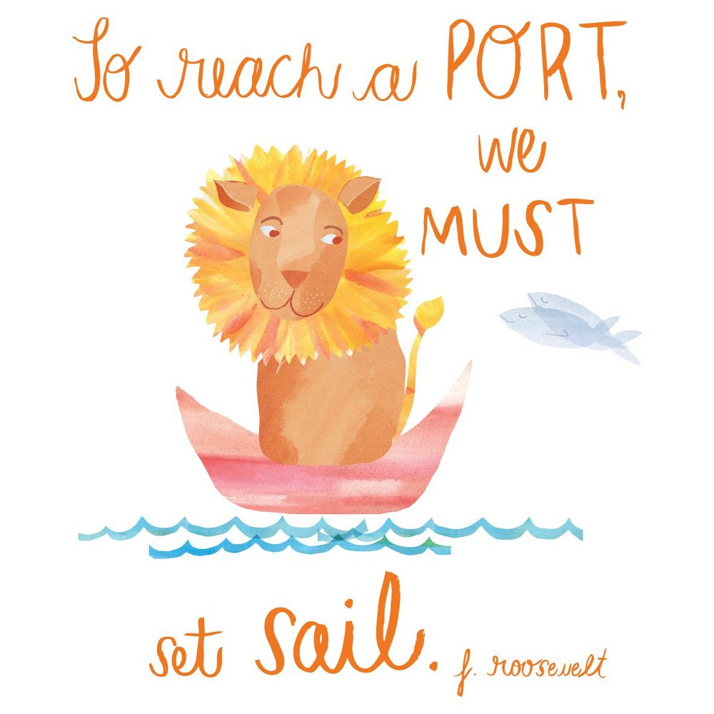 Set Sail Wall Decal Black, Multi-Colored