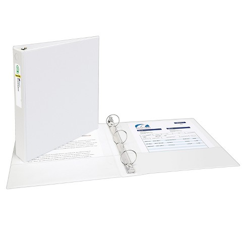 "Avery® 1.5"" 3 Ring Binder with Clear Cover White - image 1 of 1"