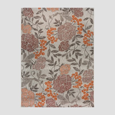 7' x 10' Vintage Floral Outdoor Rug Multi - Threshold™