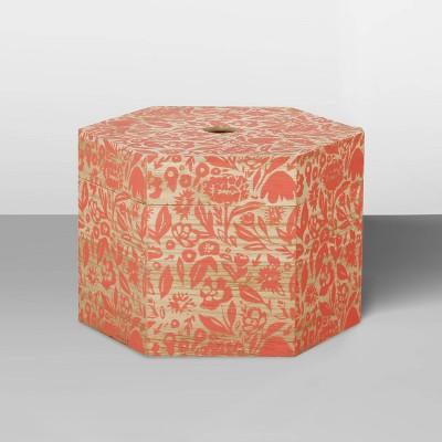 Decorative Hexagon Shaped Lidded Box Camellia 8 x10  - Opalhouse™
