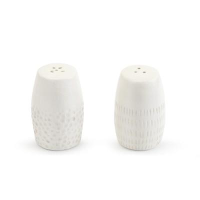 DEMDACO Textured Salt & Pepper Shaker Set White