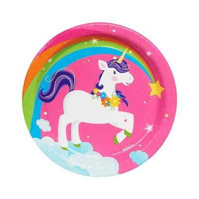 Fairytale Unicorn 8ct Party Dessert Plates