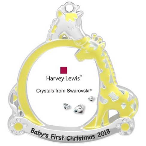 Harvey Lewis Yellow Baby\'s First Christmas 2018 Picture Frame ...