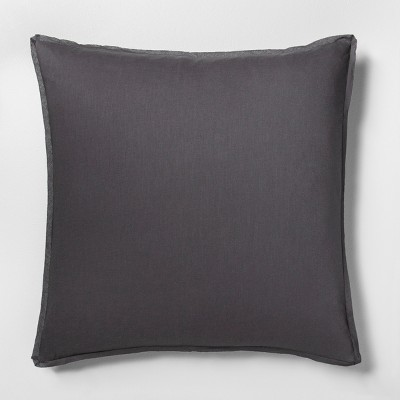 Linen Blend Euro Pillow Sham Railroad Gray - Hearth & Hand™ with Magnolia