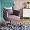 Morpho Swivel Velvet Arm Chair Blush Pink - Opalhouse™ - image 2 of 4